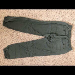 Gap army green jogger pants